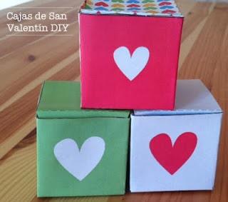 Caja de cartulina de San Valentin