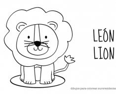 colorear_leon_infantil