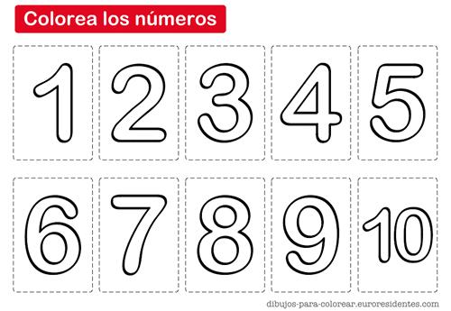 Colorear Los Números Manualidades