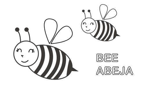 dibujo de abeja para colorear
