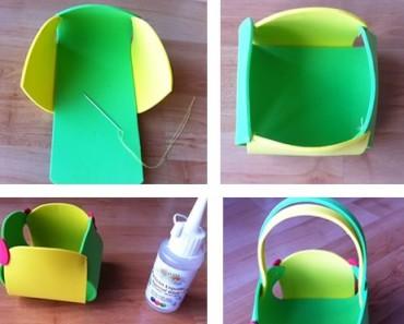 Cómo hacer una cesta de Pascua con goma eva
