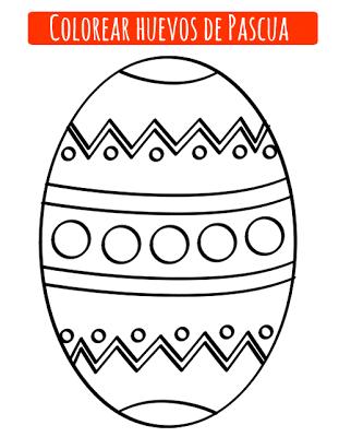 Dibujos de huevo de Pascua para imprimir y colorear - Manualidades