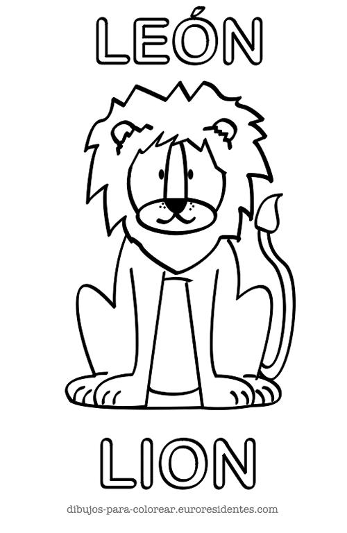 colorear leon
