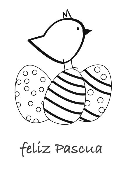 Dibujos de Pascuas para colorear - Manualidades