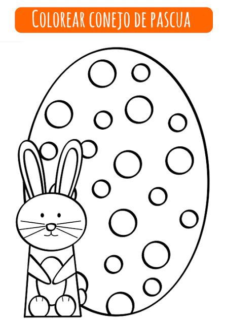 Colorear Conejo De Pascua Manualidades