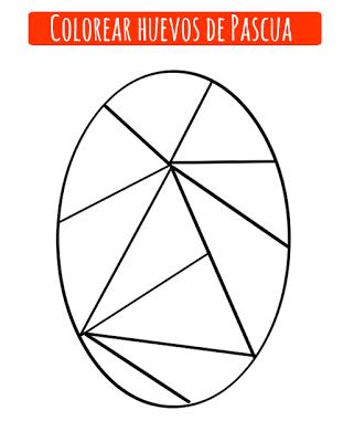 dibujo de huevo de pascua
