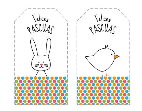 Divertidas etiquetas de Pascua para imprimir