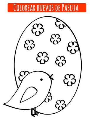 Huevo pascua para pintar