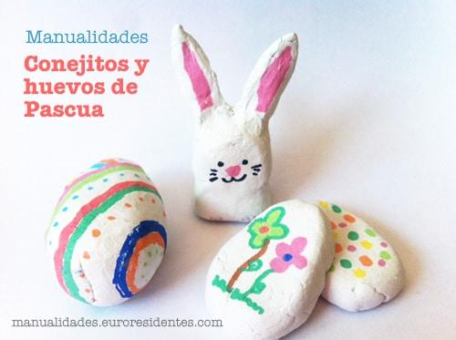Manualidades conejitos de Pascua