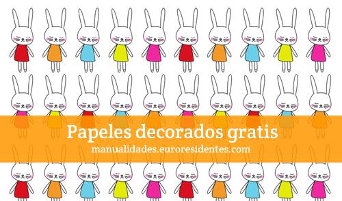 Papel decorado con conejitos de pascua manualidades - Papel decorado manualidades ...