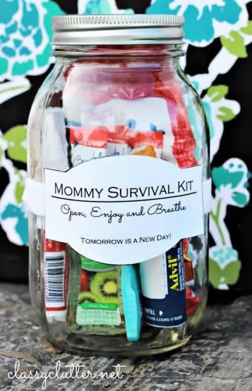 Bote de supervivencia para mamá