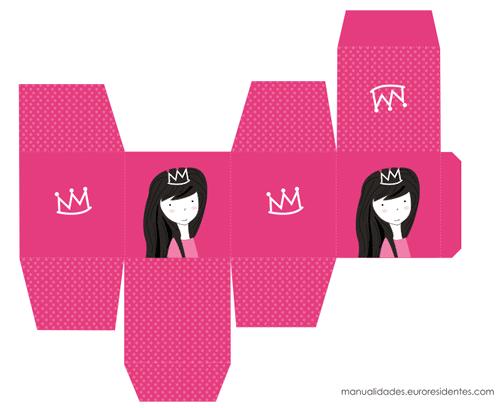 cajas imprimibles princesas