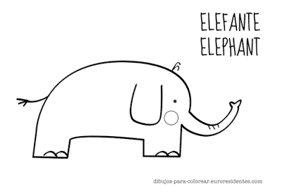 dibujo de elefante para colorear