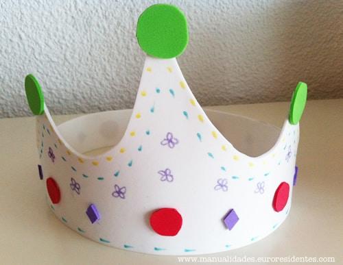 corona de goma eva de princesa