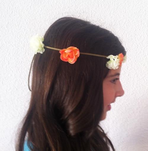 corona romantica para el pelo