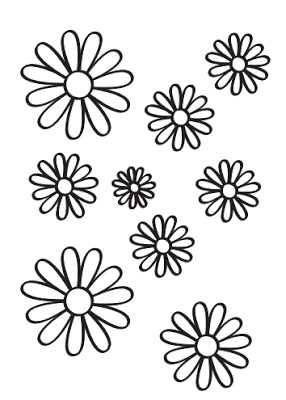 dibujo de margaritas para colorear