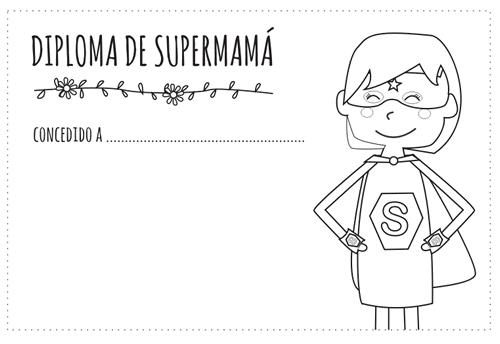 Diploma Del Día De La Madre Para Colorear Manualidades