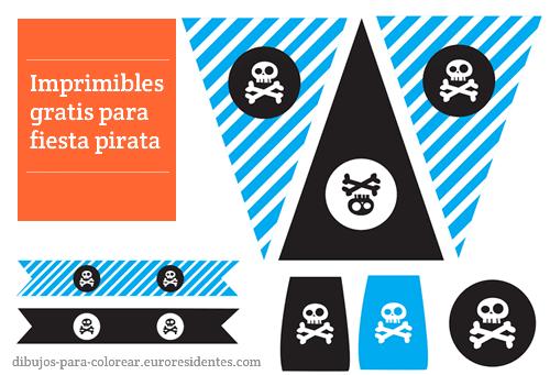imprimibles fiesta pirata gratis