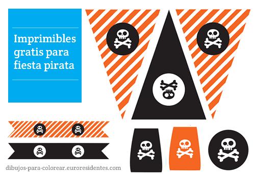 imprimibles fiesta pirata