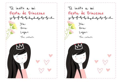 tarjeta de cumpleaos de princesas