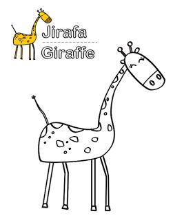 dibujo de jirafa para colorear