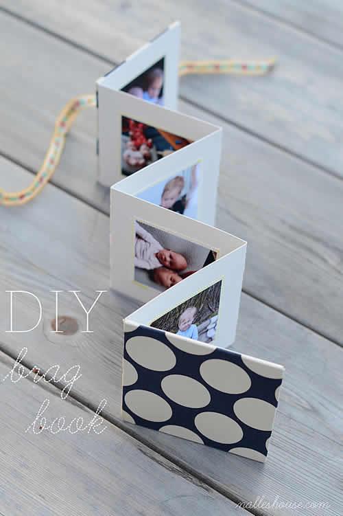 Mini álbum de fotos casero para el día de la madre