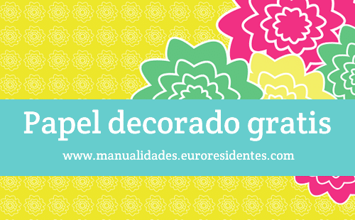 Papel decorado con flores - Manualidades