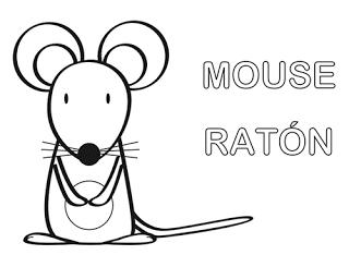 dibujo de ratón para colorear