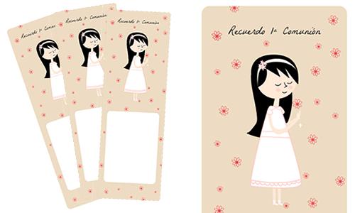 recuerdos de primera comunion de nina para imprimir