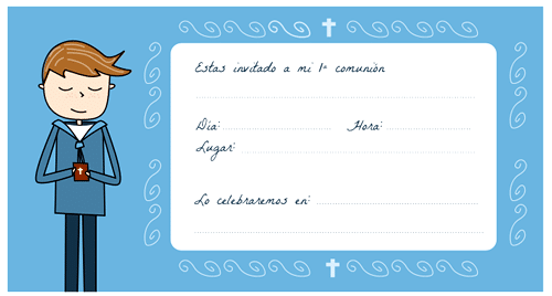 Tarjetas de comunión para imprimir gratis