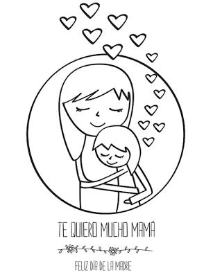 Tarjeta Del Día De La Madre Para Colorear Manualidades