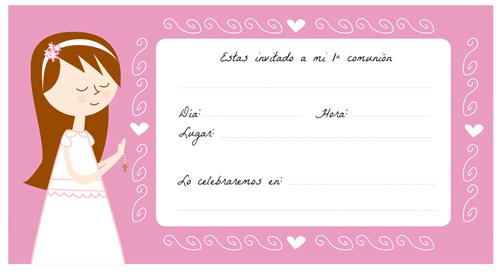 invitaciones de primera comunion para nino para imprimir
