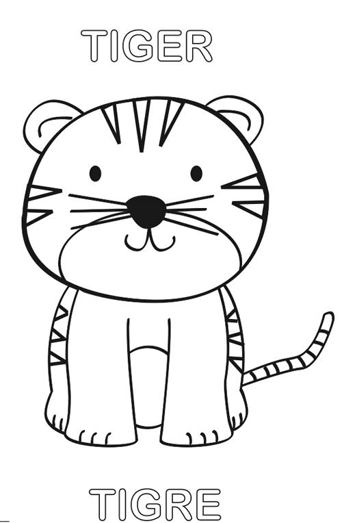 Tigre Para Colorear Manualidades