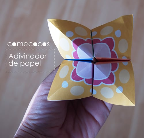 comecocos de papel para imprimir