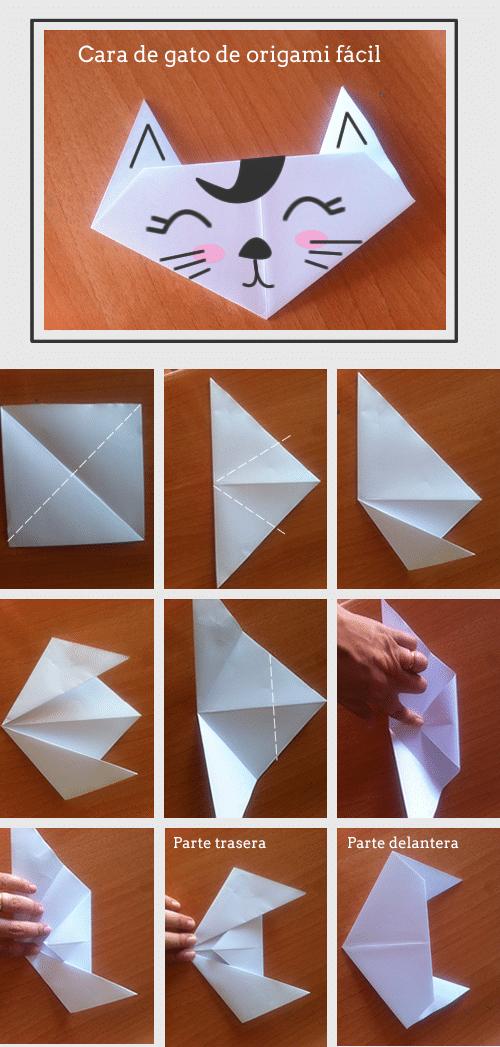 C mo hacer un gato de origami muy f cil manualidades for Adornos navidenos origami paso a paso