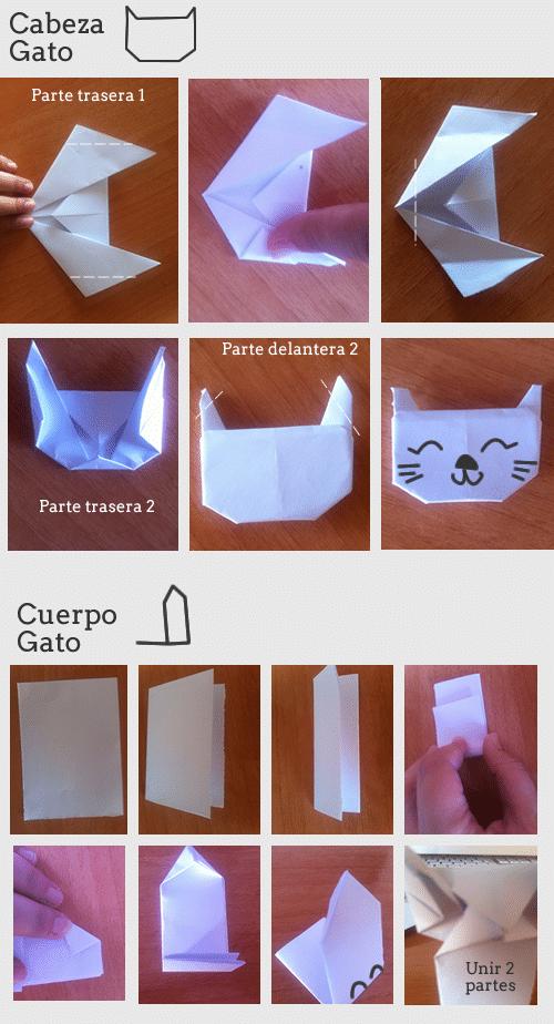 Gato de papel origami