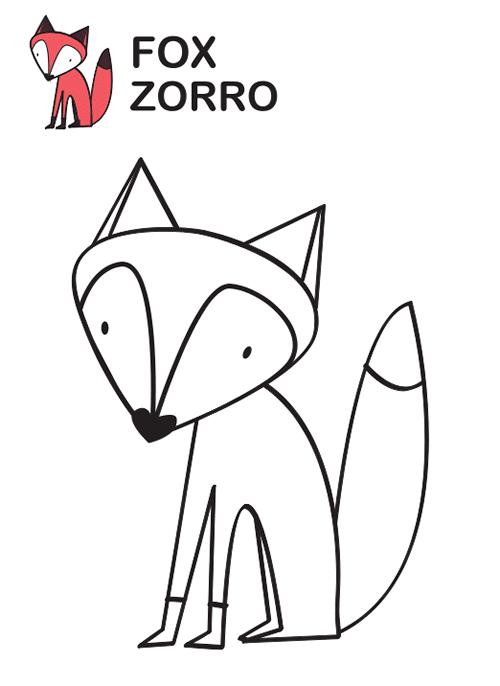 Bonito Zorro para colorear   Manualidades