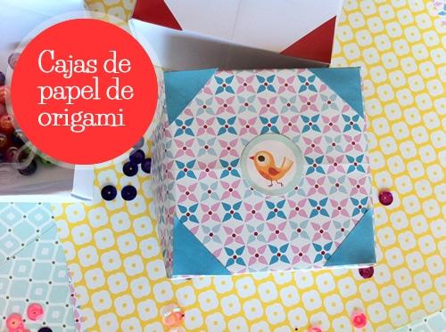 caja de papel origami
