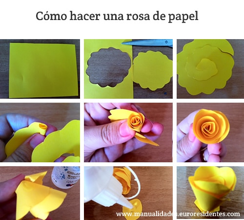C mo hacer rosas de papel sencillas manualidades - Como se hacen flores de papel ...