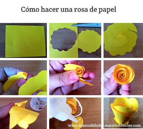 como hacer rosas de papel paso a paso - Como Hacer Rosas De Papel