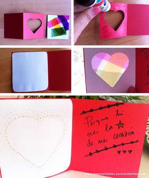 tarjeta con corazón