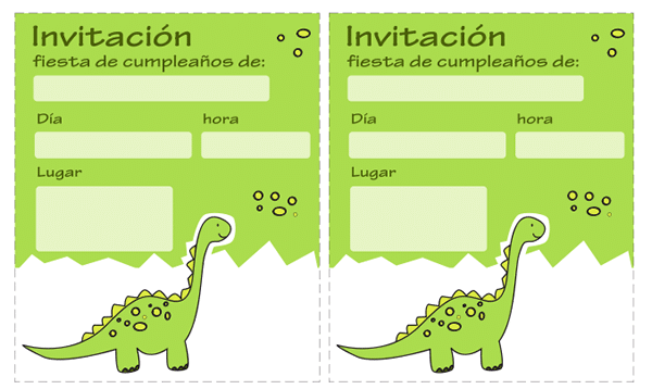 Invitaciones De Dinosaurios Gratis Manualidades