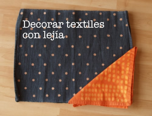 decorar telas con lejia