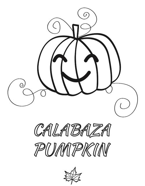 Calabaza para colorear manualidades - Calabaza halloween para colorear ...