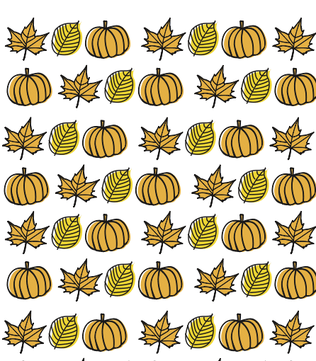 papel decorado otoño para imprimir, con calabazas y hojas