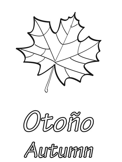 hojas de otoño para imprimir