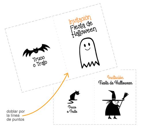 invitación de halloween para imprimir