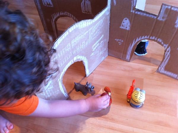 Cómo hacer castillo cartón DIY