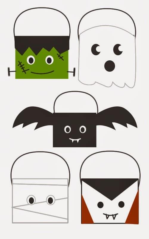 como hacer cestas de Halloween