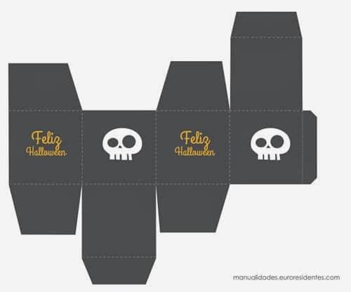 Caja imprimible halloween